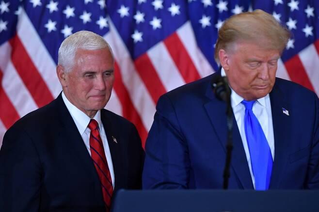 도널드 트럼프 미국 대통령(오른쪽)과 마이크 펜스 부통령(왼쪽). /AFPBBNews=뉴스1