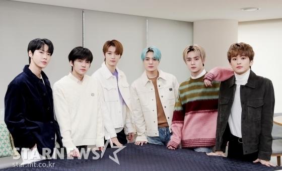 (왼쪽부터) 아이돌그룹 NCT 멤버 도영, 재민, 성찬, 제노, 쿤, 마크 /사진=김창현 기자