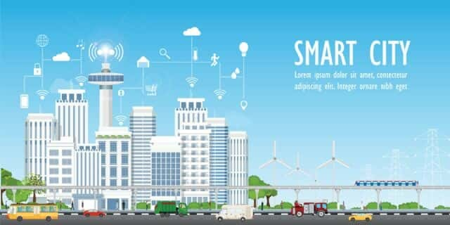 스마트시티 모형도. 디지털 트윈은 스마트시티의 핵심 기술이다.