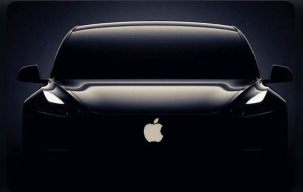 애플이 만든 자동차를 상상한 이미지 컷. /트위터 캡처