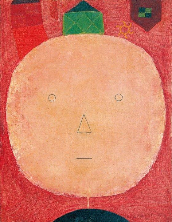 장욱진, 얼굴, 1957, 캔버스에 유채, 40.9x31.8cm. [사진 현대화랑]