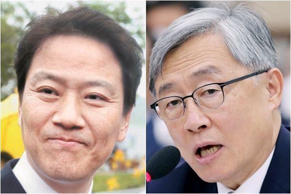 청와대 임종석(왼쪽) 전 비서실장과 최재형 감사원장./조선일보DB