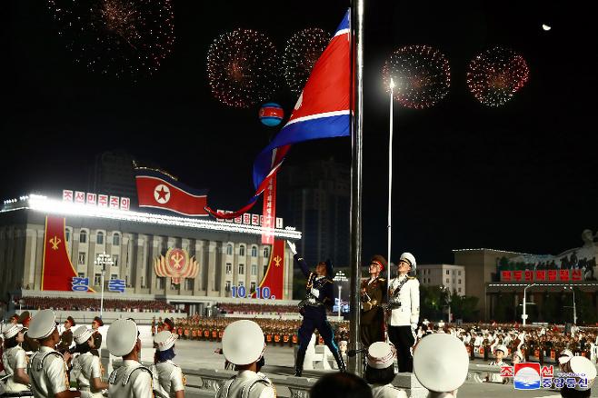 지난해 10월 10일 열린 북한 노동당 창건 75주년 기념 열병식. 연합뉴스