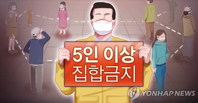 5인 이상 집합금지 행정명령 (PG) [장현경 제작] 일러스트