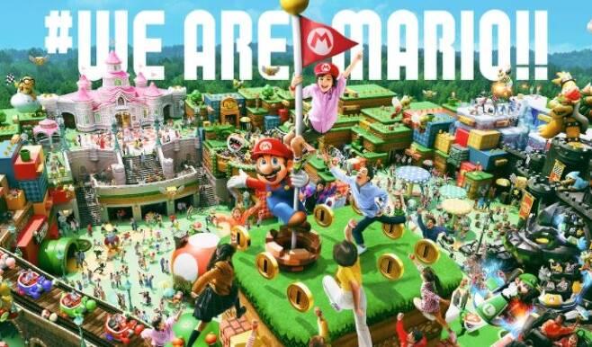'슈퍼 닌텐도 월드' 테마파크 가상 구현 이미지 [유니버설 스튜디오 저팬 홈페이지 갈무리. 재판매 및 DB 금지]