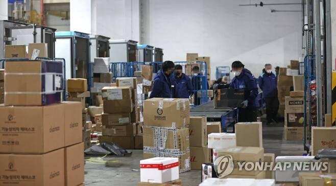 택배 물류단지(사진은 기사와 관련 없음) [연합뉴스 자료사진]