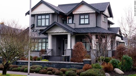 멍완저우가 캐나다 밴쿠버에 보유한 고가의 주택. [CNN캡처]