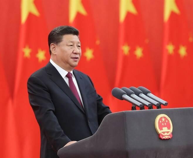 ▲ 시진핑 중국 국가주석이 2019년 8월29일 중국 베이징의 인민대회당에서 열린 국가 훈장 및 국가 명예 칭호 대상자 시상을 마치고 연설하고 있다. ⓒ 연합뉴스
