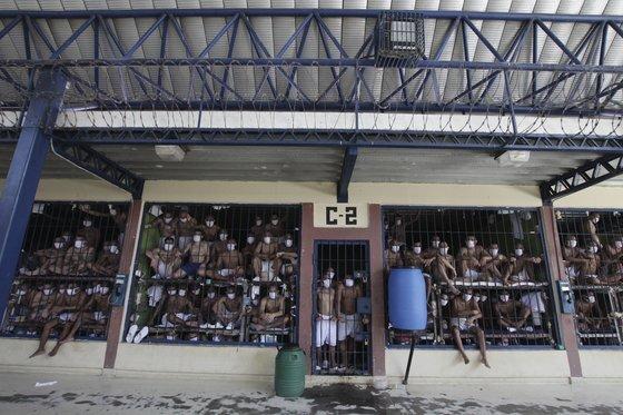 지난해 9월 공개된 엘살바도르 교도소 '박스 유치장'의 모습. [AP=연합뉴스]