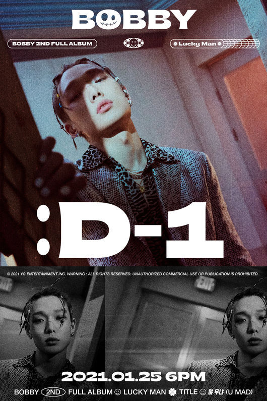 [OSEN= reporter Lee Seung-hoon] Icon (iKON) Barbie started the comeback engine by spewing powerful energy just a day before the release of his second solo album.YG Entertainment posted Barbies regular 2nd album [LUCKY MAN] D-1 Poster and Museum of the Moving Image Poster on its official blog on the 24th.Barbie, who produced a strong image with colorful styling, is also impressive, and his eyes in the noise effect and black and white tones were intense, stimulating the curiosity of global fans.The BGM used in the Museum of the Moving Image Poster caught the listeners ear.The melody, which started with the sound of the car engine and gradually increased the tension, was full of excitement.In particular, Barbies free-spirited gesture, which freely rides rhythms to the sound source, blended with the peak sound of the second half and raised expectations for euphemism.Barbie is attracting attention with her unusual teasing content every day before her solo comeback in about three years and four months.Barbie in the music video teaser of his regular 2nd album title song Ya Ugna (U MAD) which was released twice in recent years predicted characters of opposite images.The fans curiosity reached the peak of the music video storytelling that Barbie, who showed both strength and softness, will unfold.Meanwhile, Barbie participated in the composition and composition of all 17 tracks included in the regular 2nd album, including the title song Ya Ua (U MAD).Barbies solo regular 2nd album [LUCKY MAN] will be released at 6 pm on January 25, and he will open Countdown Live through Naver V Live an hour ago and meet with fans first.[Photo] YG Entertainment