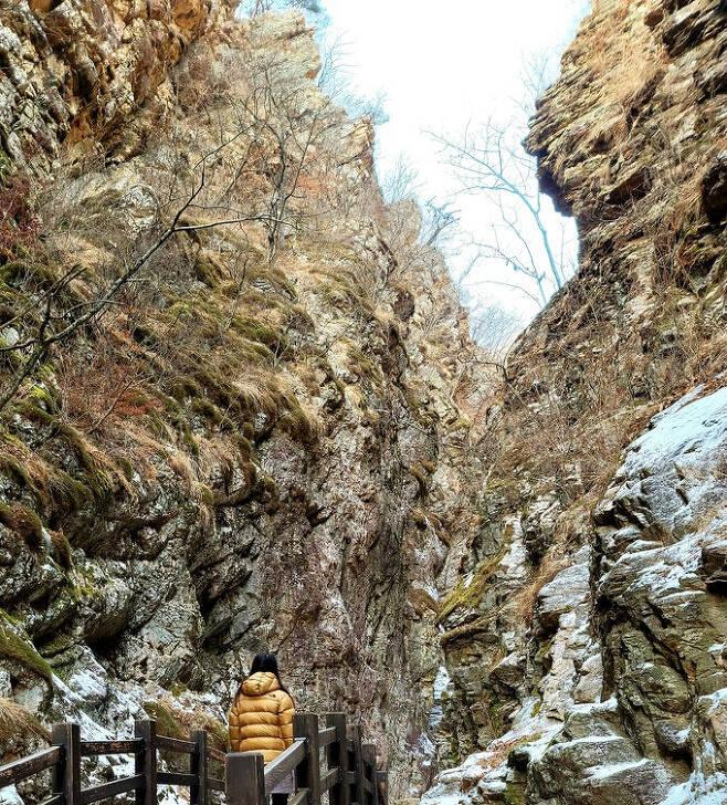 삼악산 등선폭포 협곡
