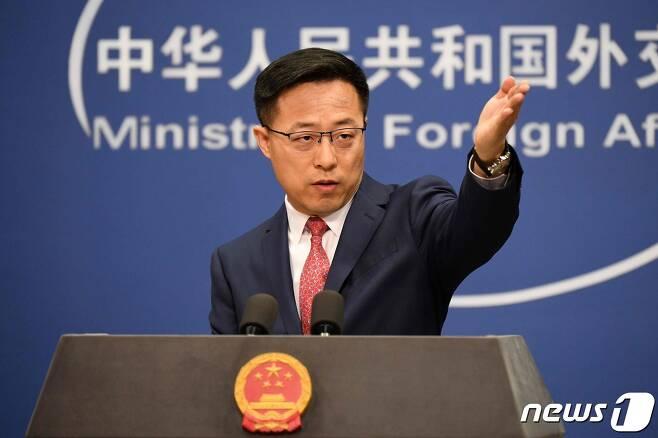자오리젠 중국 외교부 대변인. © AFP=뉴스1