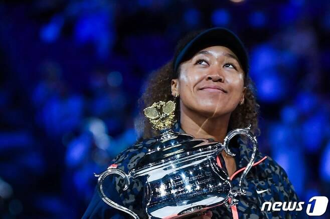 2021년 호주 오픈 여자 단식에서 우승을 차지한 오사카 나오미(일본) © AFP=뉴스1