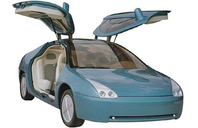 걸윙 도어를 채택한 쌍용 전기차 콘셉트카 CCR-1 [사진 출처 = 쌍용차]