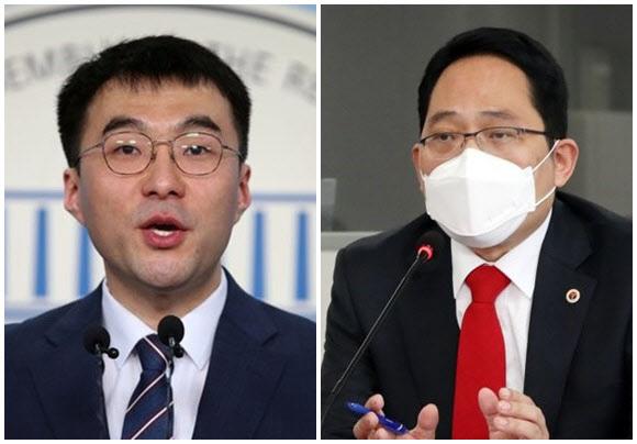 김남국 더불어민주당 의원(왼쪽)과 최대집 대한의사협회 회장 (사진=연합뉴스)