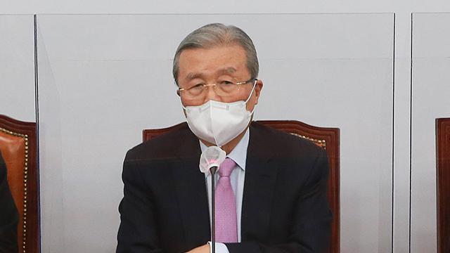 오늘 국민의힘 비대위 회의 중 김종인 비대위원장