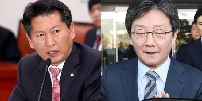 - 정청래 의원. 유승민 전 의원. 연합뉴스, 서울신문 DB