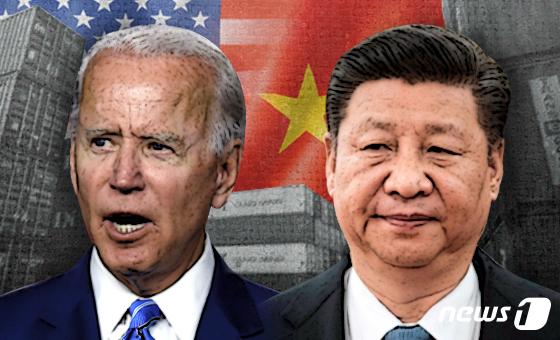 조 바이든 미국 대통령(왼)과 시진핑 중국 국가주석. © News1 최수아 디자이너