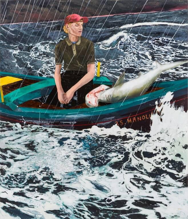 헤르난 하스, 'The Young Man the Sea', 213.4x182.9cm, 2020 [스페이스K 제공. 재판매 및 DB 금지]