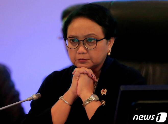 레트노 마르수디 인도네시아 외무장관. © 로이터=뉴스1 © News1 조소영 기자
