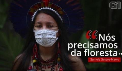 아마존 원주민 여대생 사멜라 사테레-마웨 [브라질 뉴스포털 G1]