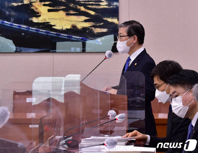 변창흠 국토교통부 장관. 2021.2.22/뉴스1 © News1 신웅수 기자