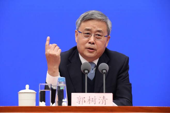 궈수칭(郭樹淸) 중국 은행보험감독관리위원회 주석. [게티이미지]