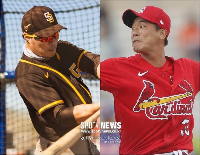 ▲ 김하성(왼쪽) ⓒ 샌디에이고 SNS / 김광현 ⓒ Gettyimages