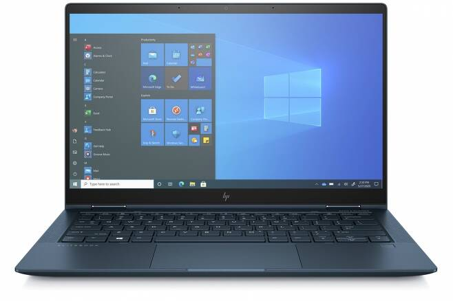 980g 무게를 지닌 13.3인치 투인원 노트북 'HP 엘리트북 드래곤플라이 G2' /사진=한국HP