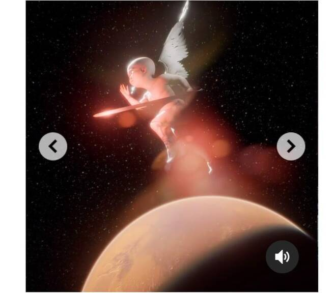 그라임스가 온라인 경매에 내놓은 디지털 그림 [NFT 거래소 '니프티 게이트웨이' 인스타그램 캡처, 재판매 및 DB 금지]