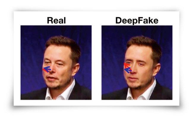배우 니컬러스 케이지 얼굴을 일론 머스크 테슬라 최고경영자 머리에 합성하면 얼굴과 머리가 올바르게 정렬되지 않는다. [미국 뉴욕주립대 컴퓨터과학과]