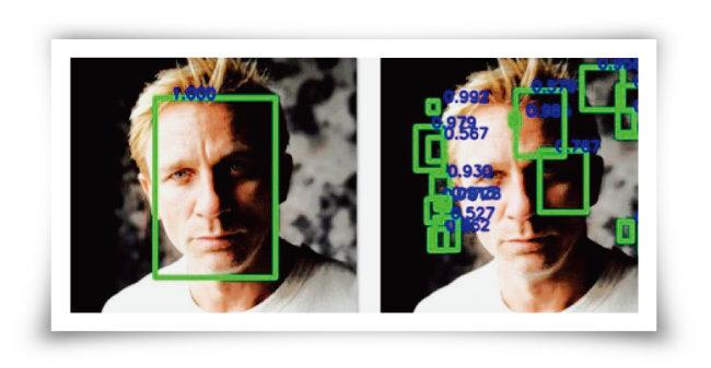 일반적인 이미지(왼쪽)와 섭동을 일으킬 경우 딥페이크 인식 작용의 예. 섭동을 일으키면 제대로 감지하기 어렵다. [미국 뉴욕주립대 컴퓨터과학과]