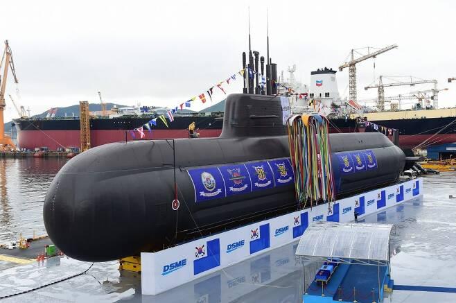 대우조선해양은 도산안창호급 잠수함을 인도해군의 프로젝트 75I급 사업에 제안중인 것으로 전해진다. 사진=해군