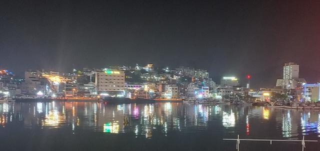 ▲ '한국의 나폴리' 통영의 야경 ⓒ손호철