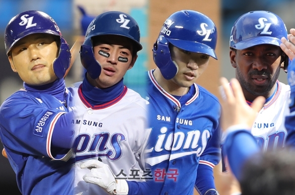 김상수-구자욱-박해민-피렐라.  스포츠코리아 제공