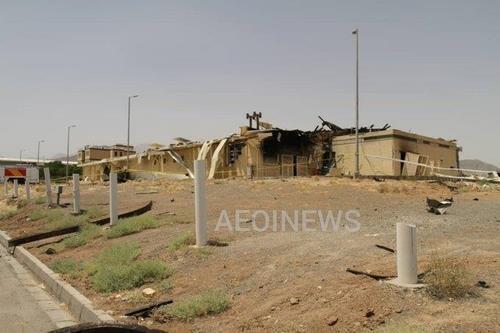 이란 원자력청이 지난해 7월 폭발이 발생한 곳이라며 공개한 이란 나탄즈 핵시설 내 건물 [이란원자력청 제공. 재판매 및 DB 금지]