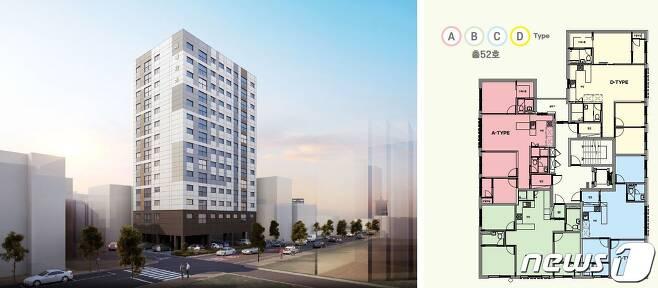 공공전세주택 안양 '미래타운' 투시도. LH 제공. © 뉴스1