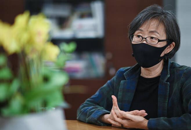15일 서울 은평구 한국양성평등교육진흥원에서 만난 나윤경 양성평등교육진흥원 원장. 양성평등교육진흥원 제공