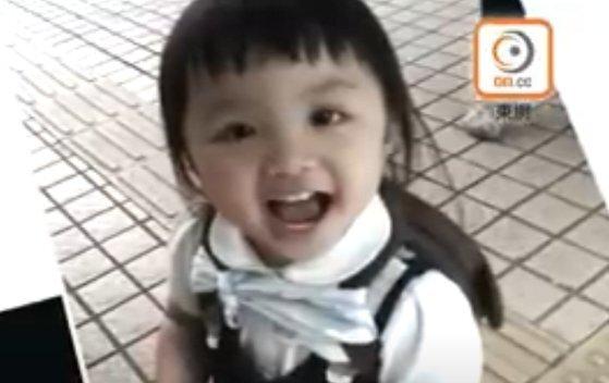 2018년 1월 친부와 계모의 학대로 숨진 천 루이린. [HK ON TV 유튜브 캡처]