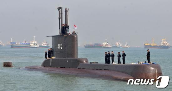 실종된 인도네시아 잠수함 KRI 낭갈라 402호. © 로이터=뉴스1