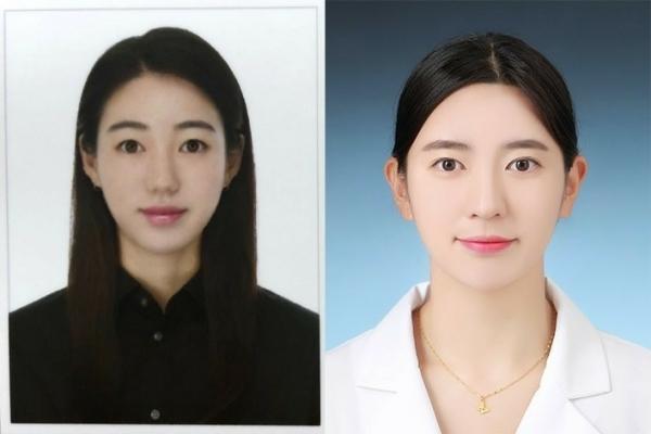 김민지(左), 김지은 선수