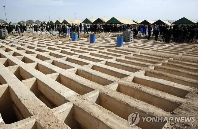이란의 수도 테헤란 인근 묘지 증설 [EPA=연합뉴스]