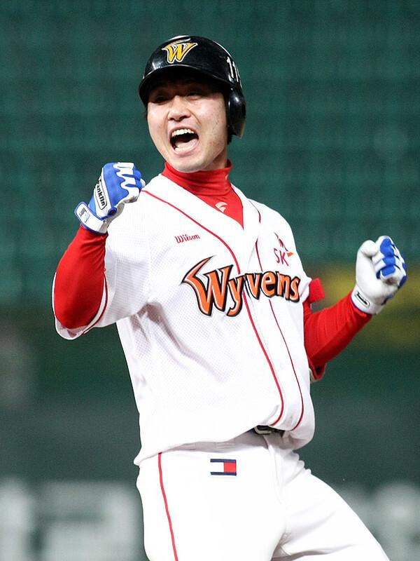 사진=SSG랜더스, 이른바 '508대첩'으로 불리는 대역전극에서 끝내기 안타를 친 SK 김성현 선수