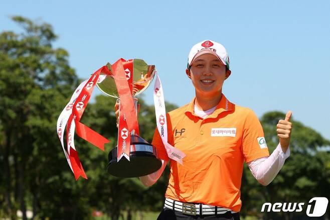 HSBC 위민스 월드 챔피언십에서 우승한 김효주. © AFP=뉴스1