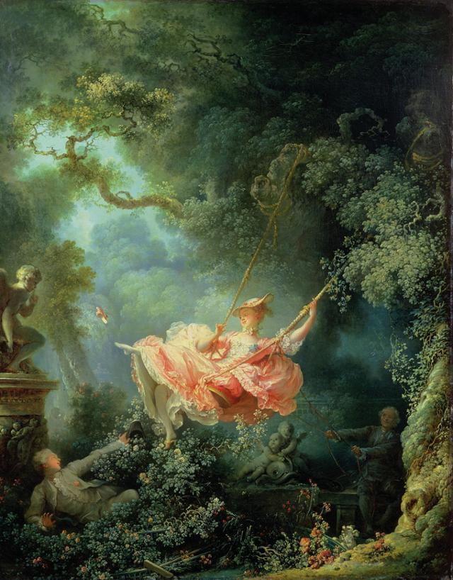 프라고나르(Fragonard), 그네(The Swing), 1767, 월러스 컬렉션 소장