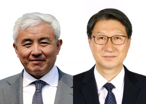 주원홍 선수단장(左)과 오완석 부단장