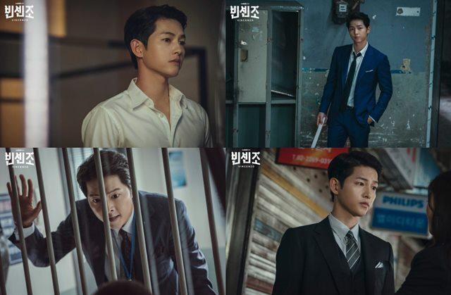 송중기는 '빈센조'에서 변호사지만 마피아식으로 사건을 처리하는 빈센조역을 맡아 열연을 펼쳤다. /tvN 제공