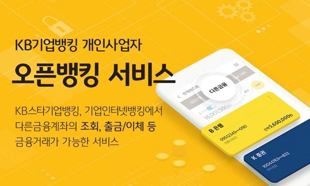 KB국민은행이 개인사업자를 대상으로 오픈뱅킹 서비스를 시행한다. /KB국민은행 제공