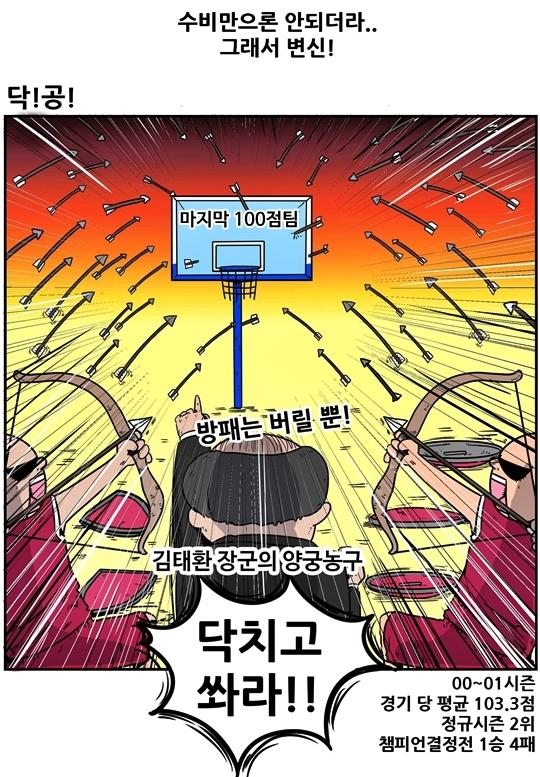 출처: [농구카툰] 크블매니아 : 위기의 LG, 힘을내요 슈퍼파워!