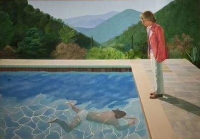 출처: Portrait of an Artist / Pool with two figures (1972)|크리스티 경매 공식 홈페이지